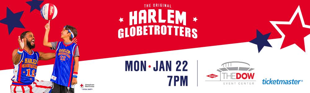 Harlem Globetrotters event banner